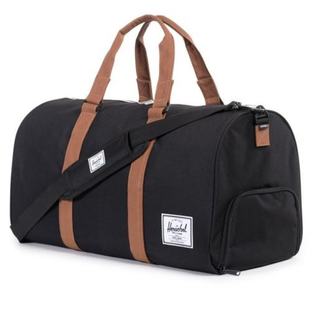 Herschel Supply Co. Novel Duffel Bag Black Tan 42.5L 28b9f4c64b144