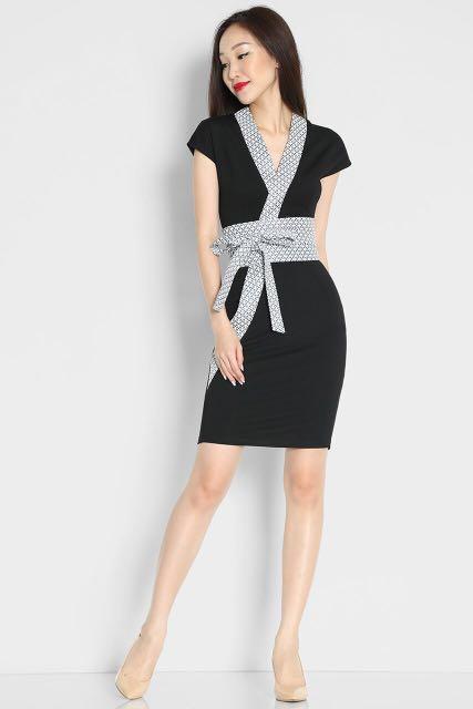 495f3b8432e Lara J - Hana Kimono Dress In Black