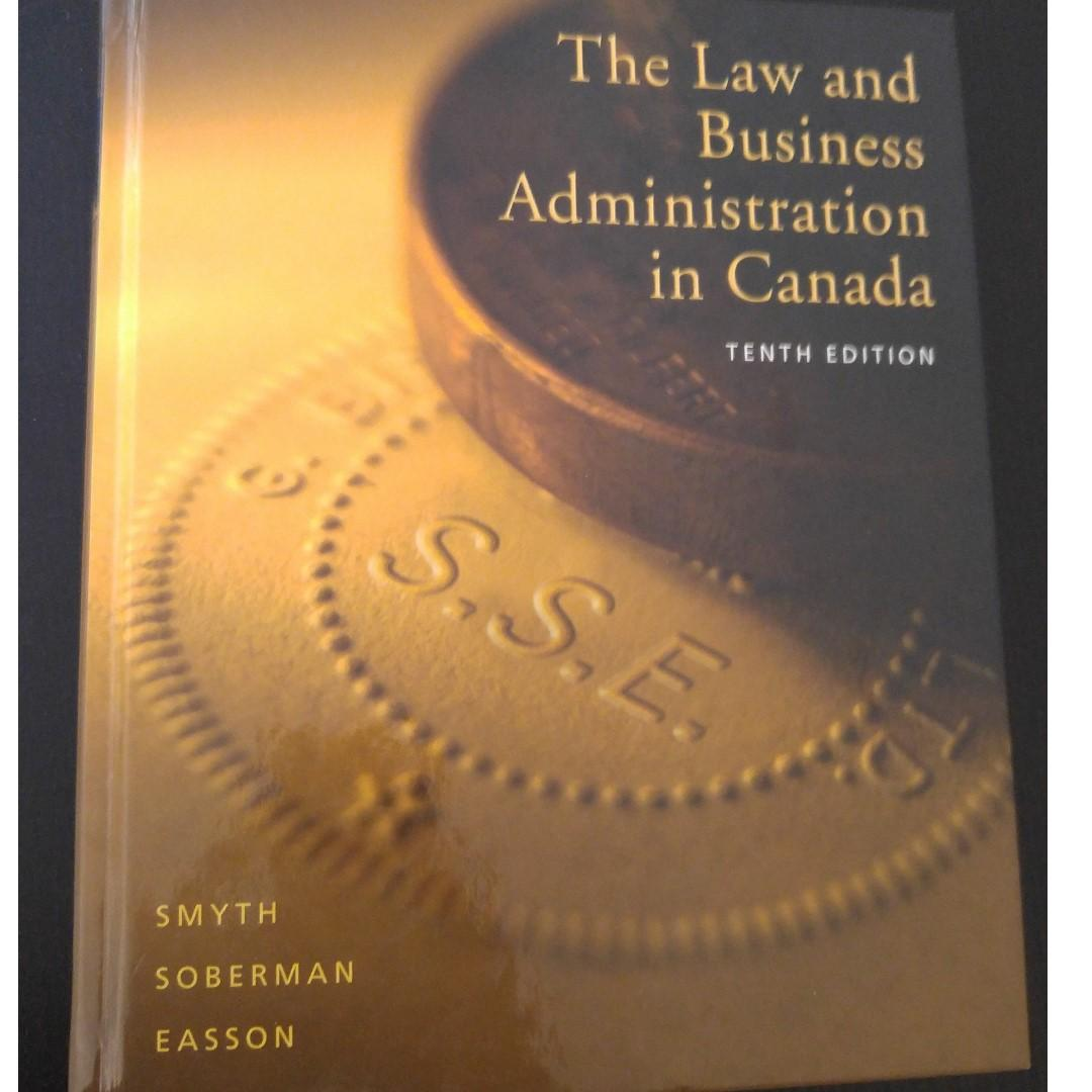Law and Business Administration in Canada 10th ed.