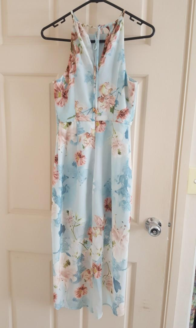 Light blue floral dress. Size 6