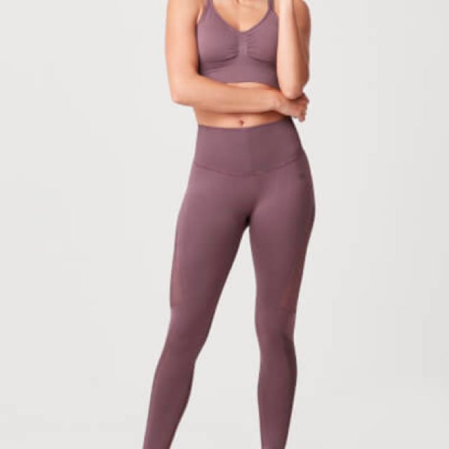 1e91dc9115baa MyProtein Shape seamless leggings - mauve, Sports, Sports Apparel on  Carousell