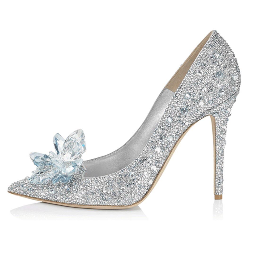 224e1550c7b NEW - Size 39) Cinderella Rhinestone Heels