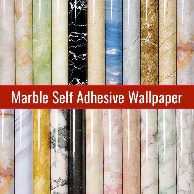Po Marble Finish Wallpaper Furniture Home Decor Others On Carousell