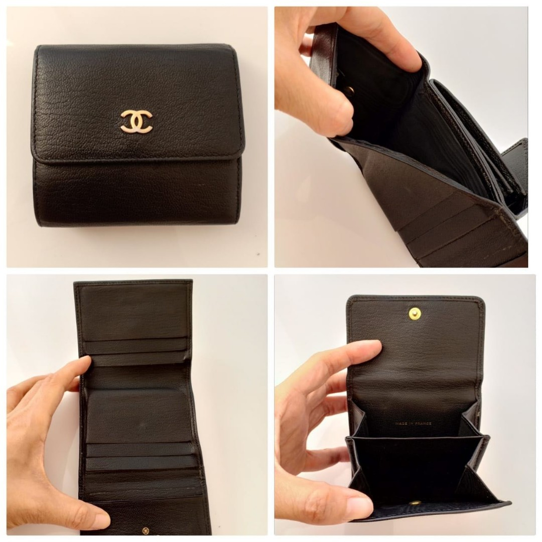 d64c60907f2b25 Preloved Authentic Chanel Small Wallet Calfskin #8, Women's Fashion ...