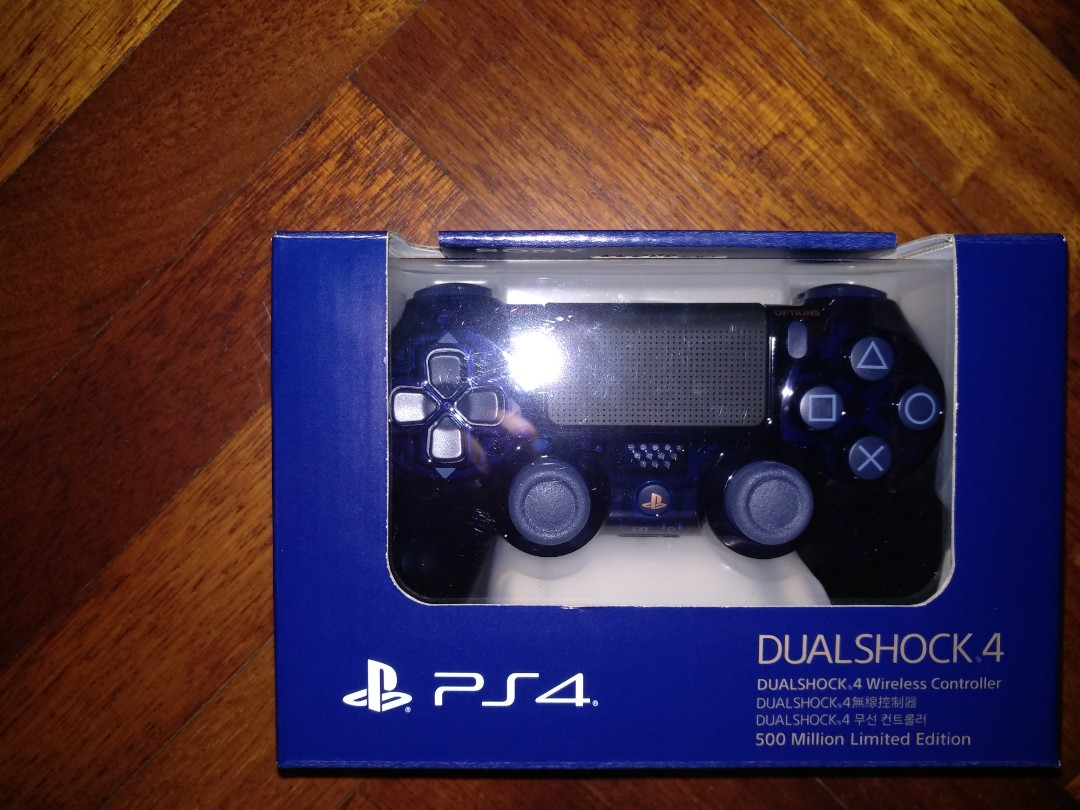 Ps4 Dualshock 4 500 Million Limited Edition Controller Video Gaming Ds4 New Dual Shock Light Blue Model Accessories On Carousell