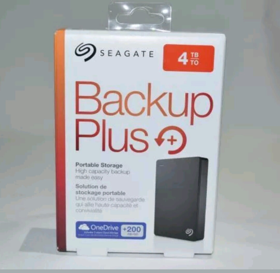 Seagate 4t 4tb Backup Plus External Hard Drive Hdd 25 Disk Slim 2tb Hd Hardisk Harddisk Portable And Light Electronics Computer Parts Accessories On Carousell