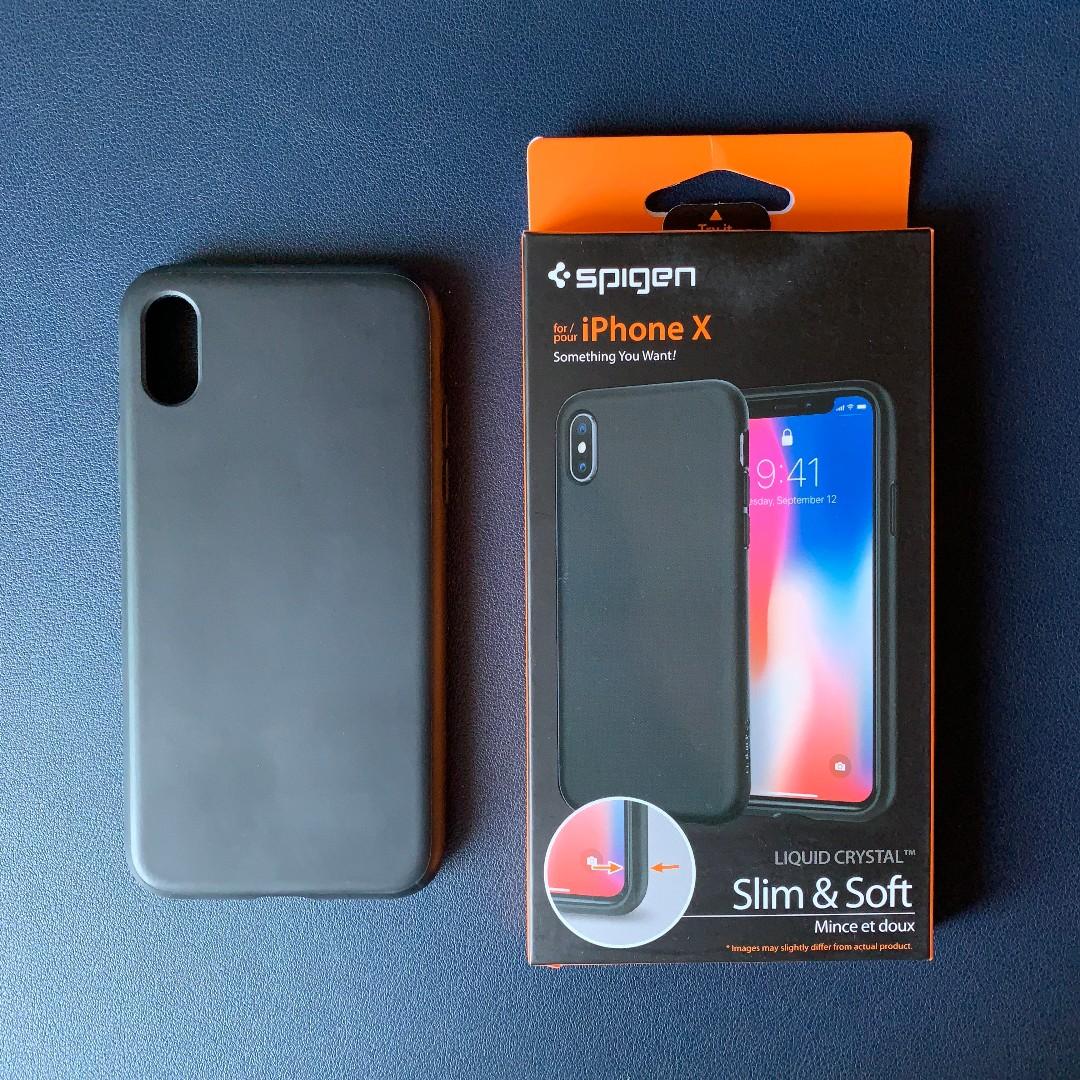 check out c4188 cce91 Spigen Liquid Crystal iPhone X Case (Black)