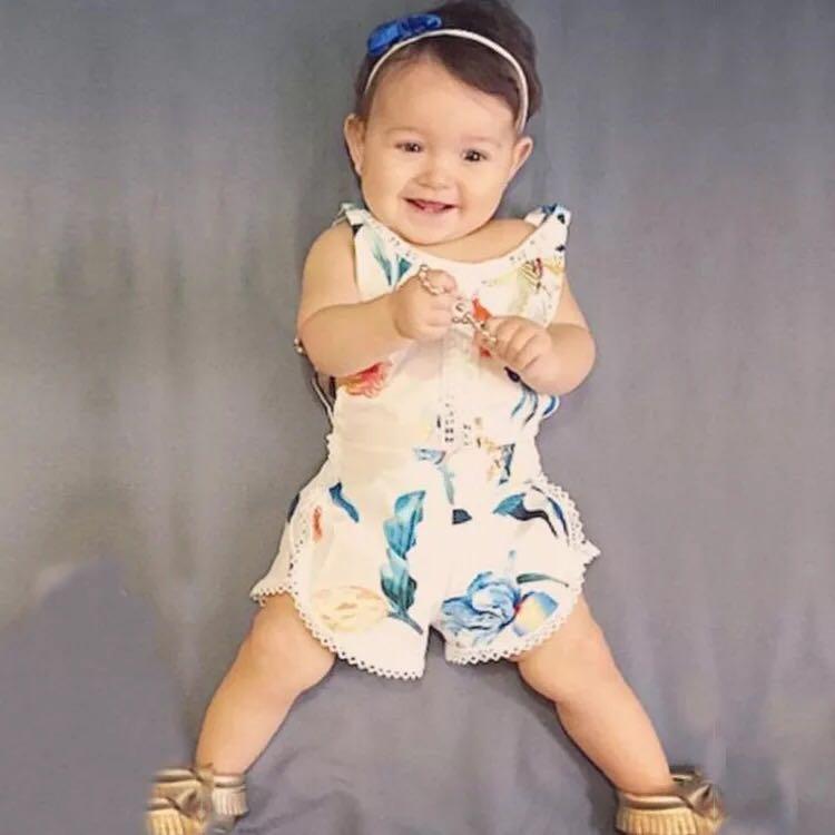 84a615221dce ✓️STOCK - STYLISH SUMMER FLORAL TASSEL HALTER ROMPER PANTS TODDLER BOY GIRL  KIDS OVERALL JUMPSUIT CHILDREN CASUAL CLOTHING