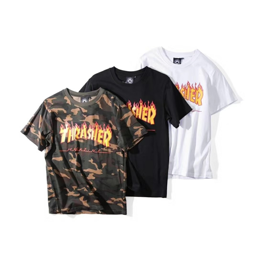 8ccefb498ee2cd Thrasher Magazine Skateboard Graphic T Shirt, Men's Fashion, Clothes ...