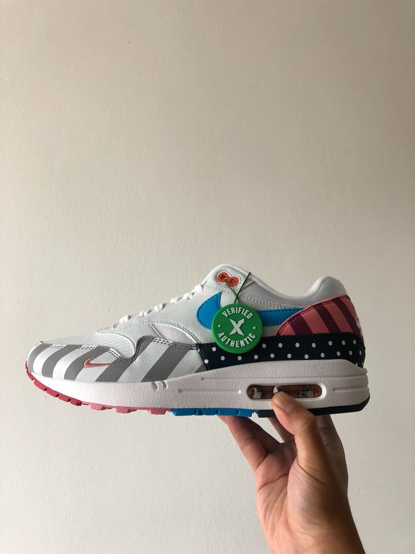 114762ca67 US9 Nike Air Max 1 Parra, Men's Fashion, Footwear, Sneakers on Carousell