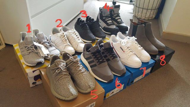 Various Shoes New and Used to fit 8-8.5us