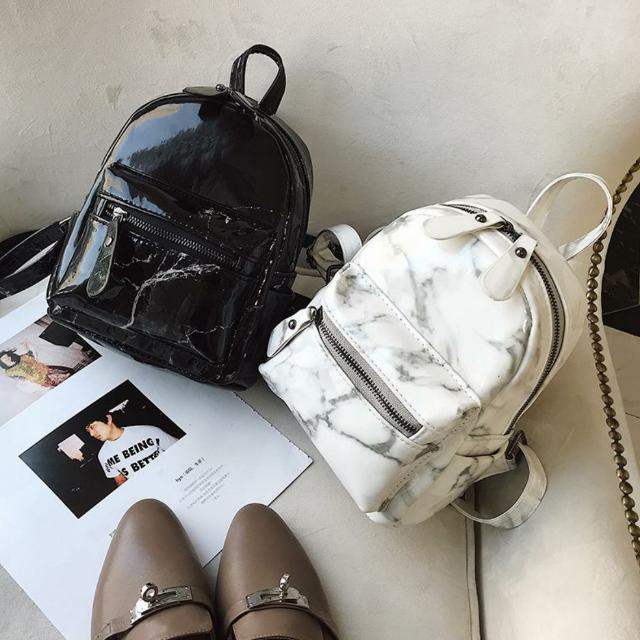 451843c3b435 YSL MARBLE PRINT FAUX LEATHER MINI SLING BACKPACK
