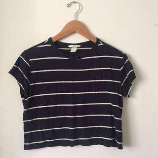 *reduced Striped Crop Top