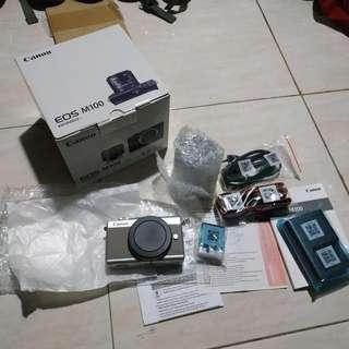 Canon EOS M100 Ex Hadiah Vlog Wifi Terbaik BARU
