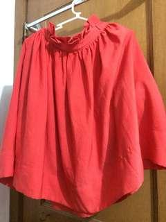 H&M orange skirt