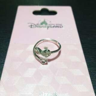 AUTHENTIC DISNEY SILVER RING ADJUSTABLE WITH SWAROVSKI CRYSTALS