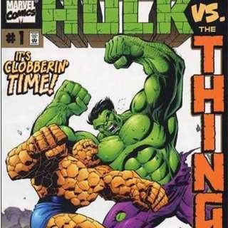 The Incredible HULK and The THING  (1999) #1