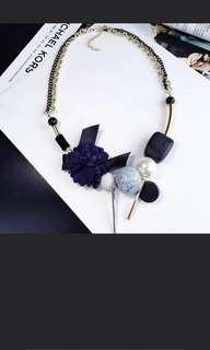 Blue gold Necklace