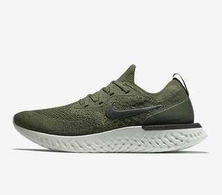 [外國訂購] 突發優惠 Nike Epic React Flyknit Olive 軍綠色 Mens