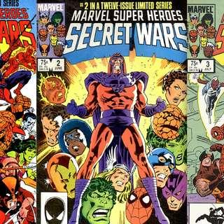 MARVEL'S SECRET WARS (1984) #1,2,3 (set of 3 books)