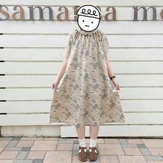 🚚 SM2風格 復古棉麻航海地圖洋裝(原單)洋裝