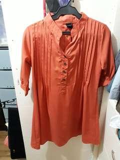Tangerine Maternity blouse