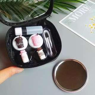 Contact Lens Case Holder - Coffee
