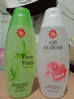 Paket Viva Green tea & air mawar