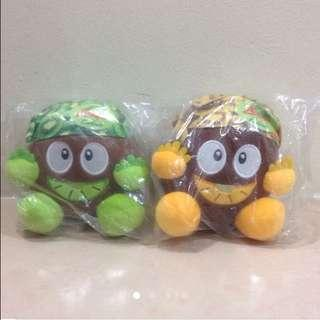 Zespri Gold & Green Kiwi Limited Edition Cute Plushies (Brand New & Wrapped)