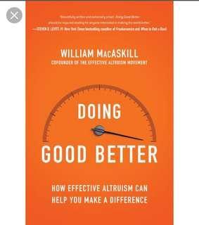 Doing Good Better - William Macaskill