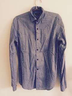 Zara Men Slim Fit Casual Shirt (Size S) Free Postage for WM