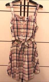 Cute Checkard Dress with Tag