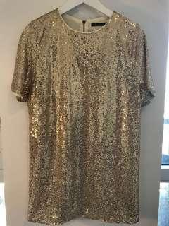 Sequin dress (M)