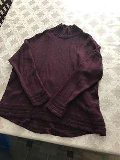Old navy maroon knit sweater. Worn once. Size XL