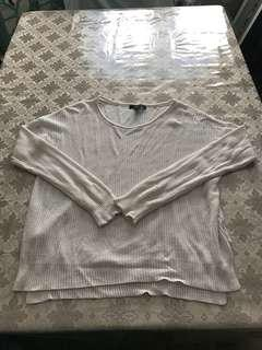 Cream knit loose sweater size large
