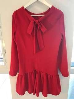 Zara red romper (M/L)