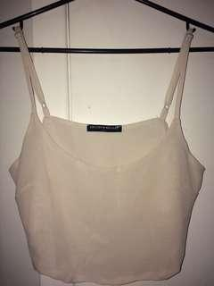 BRANDY MELVILLE silk cropped top