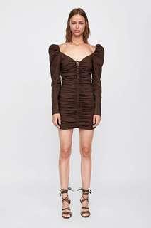 Zara Short Dress with Ruching