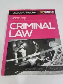 Law Degree Year 1 Criminal Law