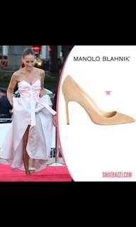 Manolo blahnik nude pumps sz 5.5