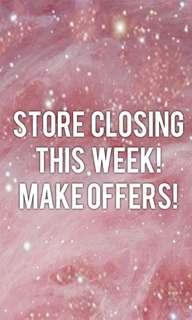 🎀Store closing this Thursday! Make me offers! 🎀