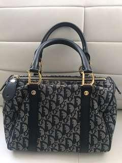 Authentic Dior Boston Bag Purse Vintage