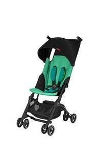 Brand New gb Pockit+ Lightweight Stroller, Laguna Blue  (Recline)