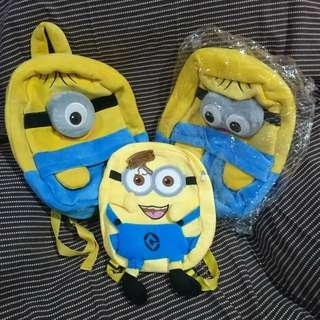 Minions Plush Backpack for kids