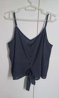 Cotton on Blue Dotted Singlet