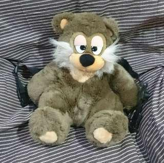 Sleepy bear plush backpack
