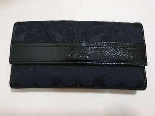 Coach Black Wallet with cheque book sleeve
