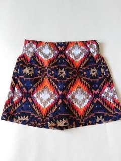 Zara Woman Printed Highwaisted Short
