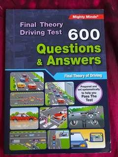 Theory book for driving