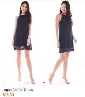 Logan chiffon halter dress